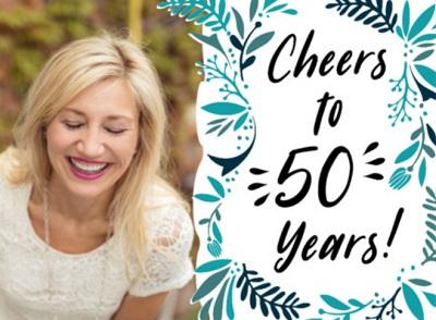 50 jaar Sarah kaart